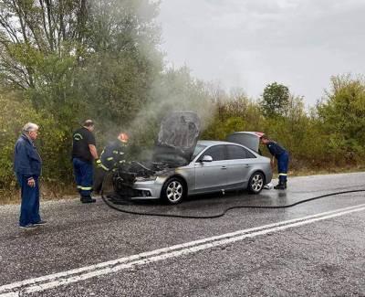 Το αυτοκίνητο του Παναγιώτη Ψωμιάδη άρπαξε φωτιά ενώ οδηγούσε