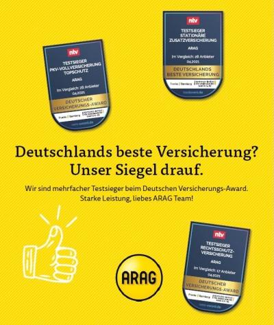Στην ARAG το βραβείο για το καλύτερο προϊόν Νομικής Προστασίας στη Γερμανία