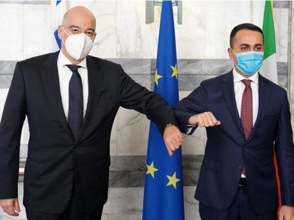 Συνάντηση Νίκου Δένδια με τον Λουίτζι ντι Μάιο στη Ρώμη