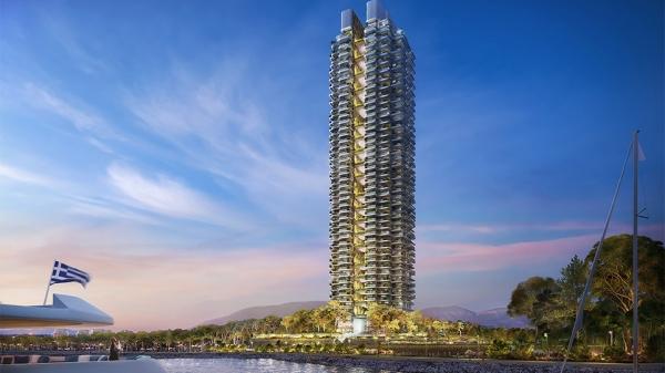 Marina Tower: Παρουσιάστηκε ο πρώτος «πράσινος» ουρανοξύστης στη χώρα μας με 45 ορόφους και 200 διαμερίσματα