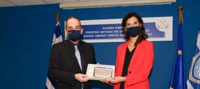 Επίσκεψη της Πρέσβειρας της Ιταλικής Δημοκρατίας στο Υπουργείο Ναυτιλίας και Νησιωτικής Πολιτικής