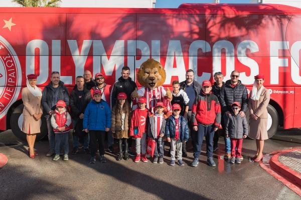 Οι μικροί επιβάτες της Emirates γνώρισαν τους «θρυλικούς» παίκτες του Ολυμπιακού