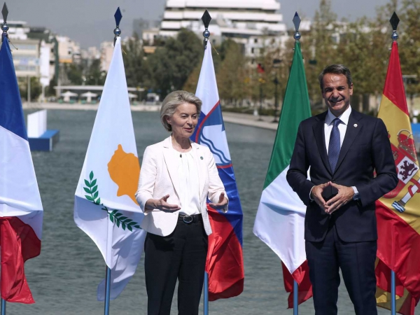 Ξεκινά η Σύνοδος Eumed9 - Συνάντηση Κυρ. Μητσοτάκη με Μάριο Ντράγκι