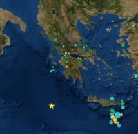 Ισχυρή σεισμική δόνηση 5,9 βαθμών στην κεντρική Μεσόγειο μεταξύ Μεθώνης και Κρήτης