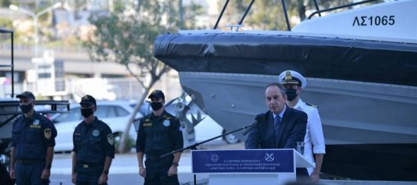 Τελετή ένταξης περιπολικών σκαφών με υγειονομικό εξοπλισμό στο Λ.Σ.-ΕΛ.ΑΚΤ.