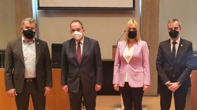 Συνάντηση του Δημάρχου Θεσσαλονίκης Κ. Ζέρβα με τον Υπουργό Ναυτιλίας και Νησιωτικής Πολιτικής Γ. Πλακιωτάκη