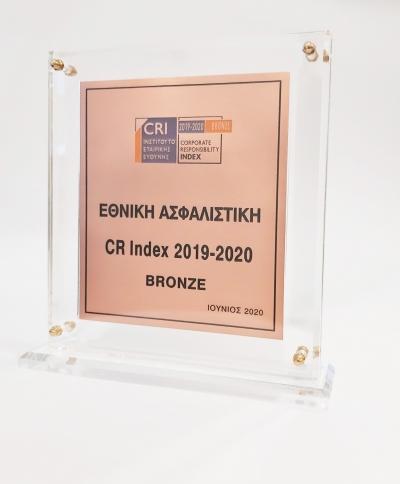 Εθνική Ασφαλιστική: Ξεχώρισε στο CR INDEX 2019-2020