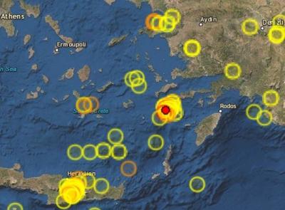 Σεισμός 4.1 Ρίχτερ κοντά στη Νίσυρο