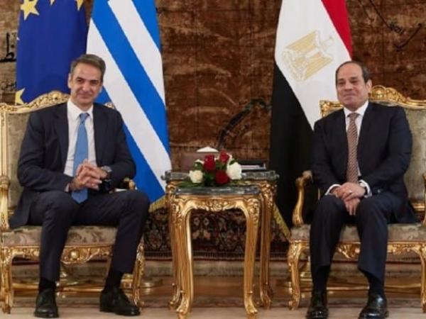 Συνάντηση Κυριάκου Μητσοτάκη με τον Πρόεδρο της Αιγύπτου Abdel Fattah El-Sisi στο Κάιρο