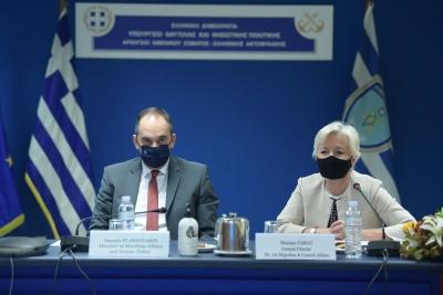 Ικανοποίηση για το εξοπλιστικό πρόγραμμα του Λιμενικού Σώματος και τους χειρισμούς στο μεταναστευτικό από τη Διευθύντρια Μετανάστευσης της Ευρωπαϊκής Επιτροπής